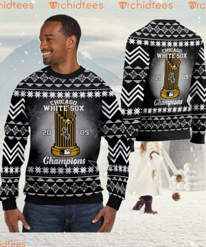 Chicago White Sox World Series Champions MLB Cup Ugly Christmas Sweater Sweatshirt Party