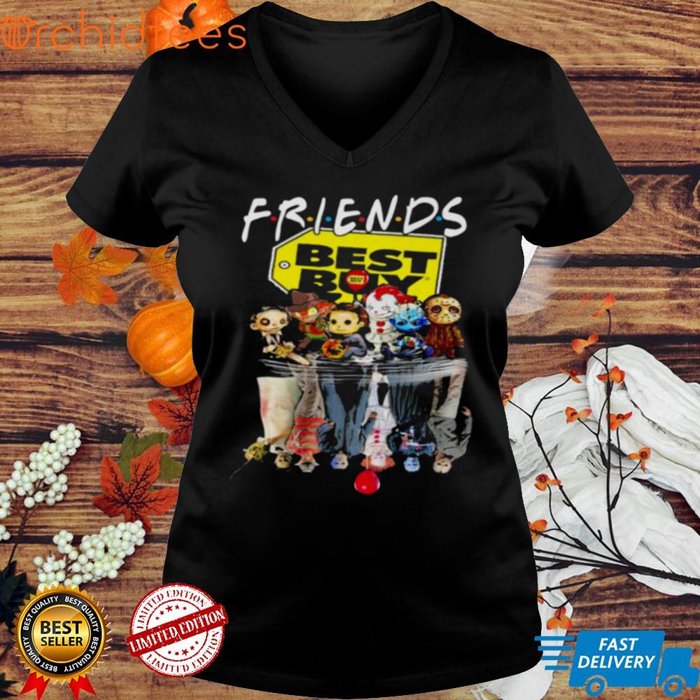 Friends Horror Movie Chibi Characters Water Reflection Best Buy Shirt