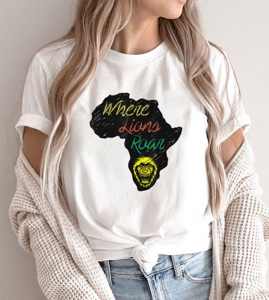 Funny African Lion Africa Continent Lioness for Men Women T Shirt