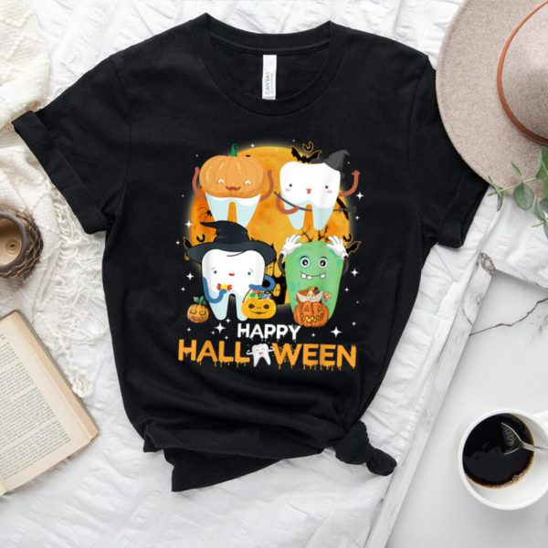 Funny Dental Dentist Boo Witch Happy Halloween Costume T Shirt.