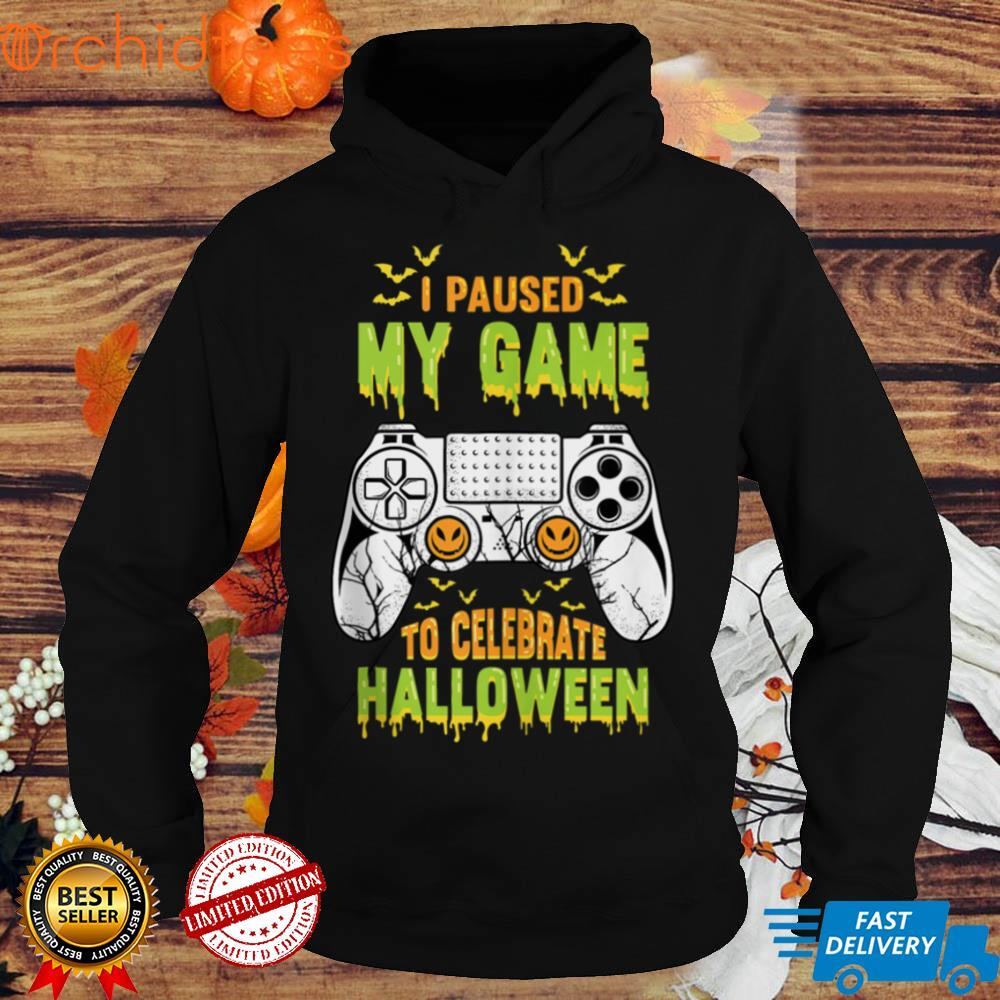I Paused My Game To Celebrate Halloween Funny Gamers Costume Tank Top