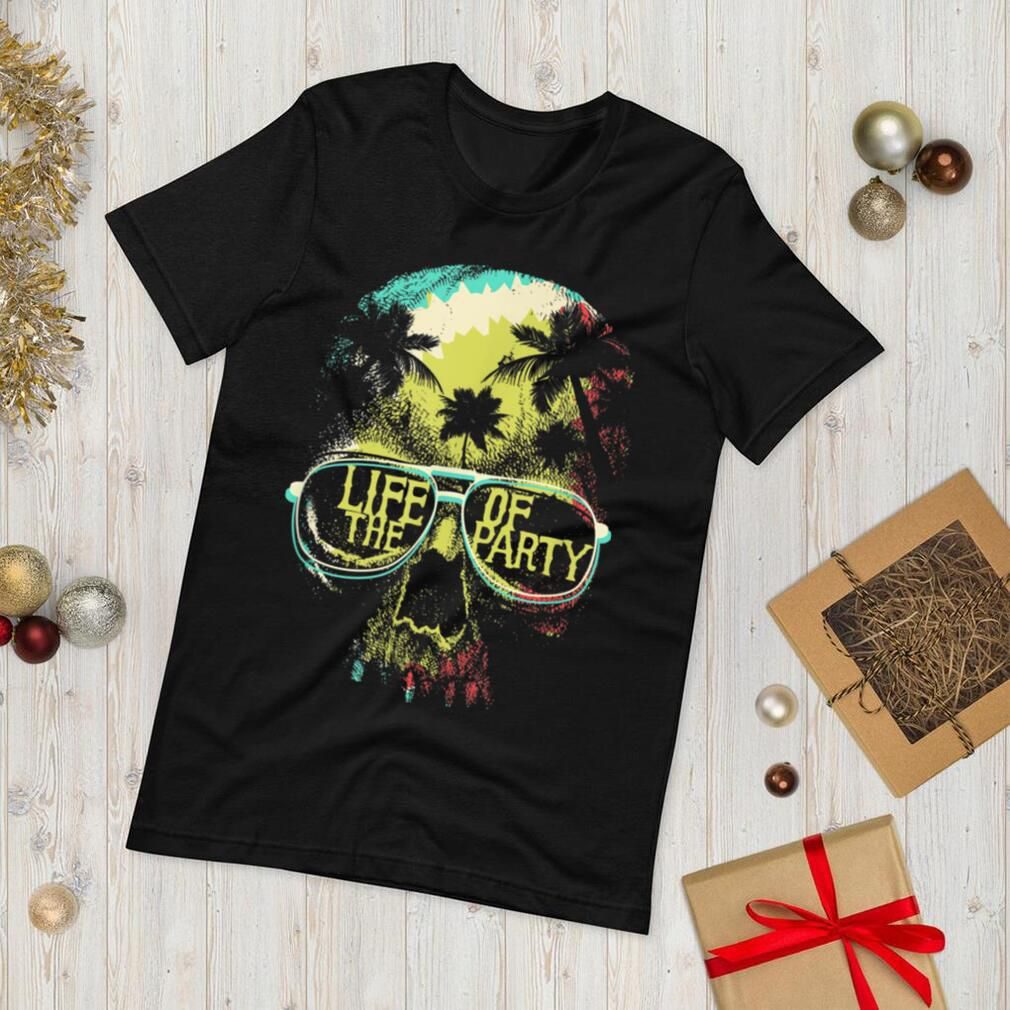 Life Of The Party Tropical Skull With Sunglasses Halloween T Shirt