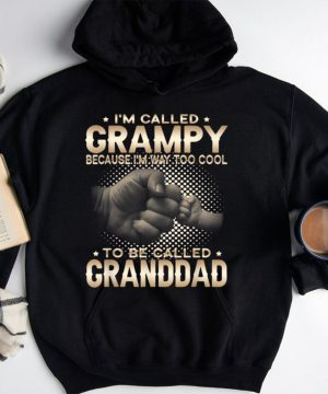 Mens Im Called Grampy Because Im Too Cool To Be Called Granddad T Shirt.