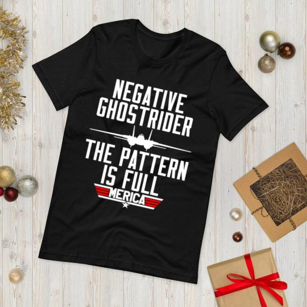 Negative ghostrider the pattern is full merica shirt.