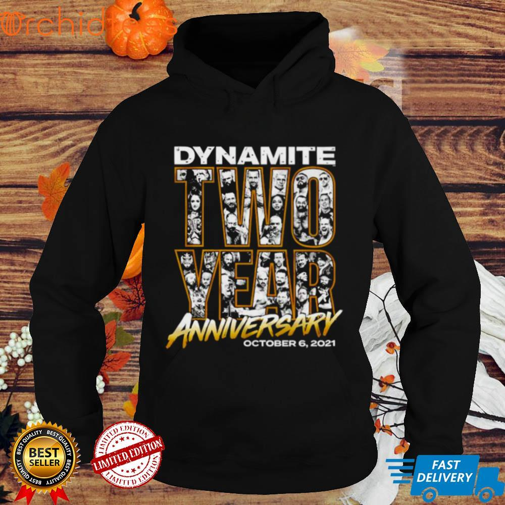 Official dynamite two year anniversary shirt