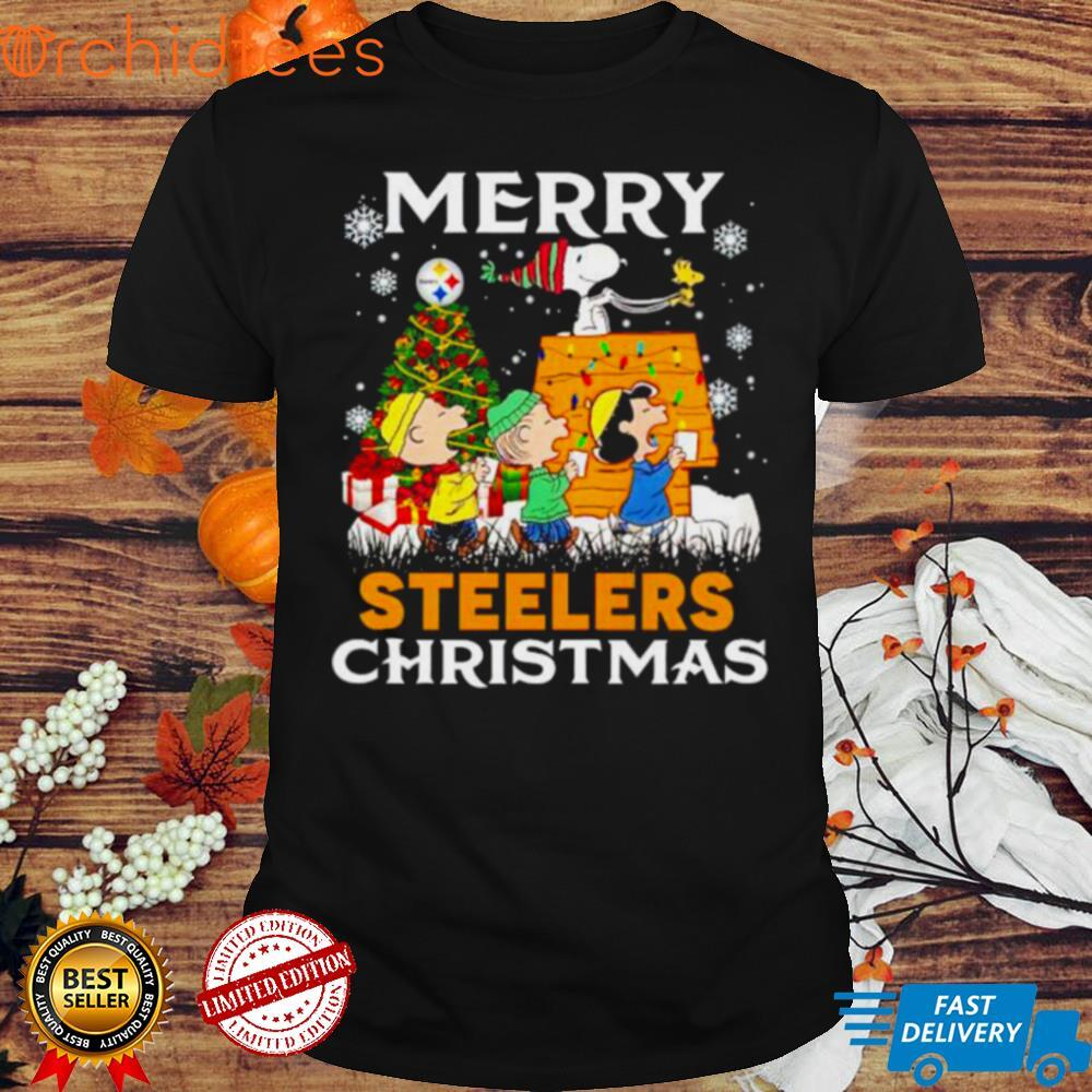 Peanuts characters Steelers merry Christmas shirt
