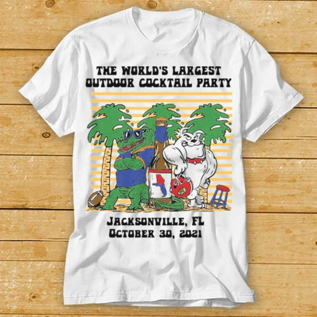 The Worlds largest outdoor cocktail party Jacksonville Florida shirt