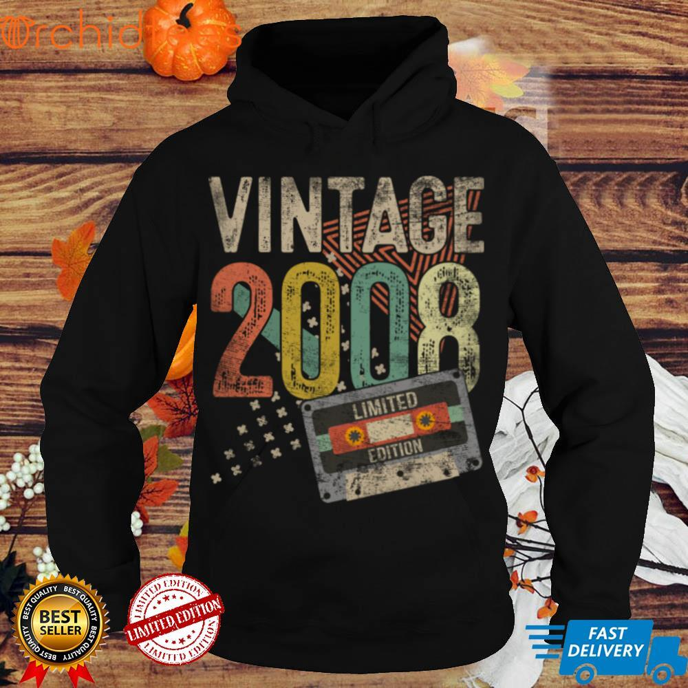 Vintage 2008 Limited Edition 13 Year Old Gift 13th Birthday Long Sleeve T Shirt